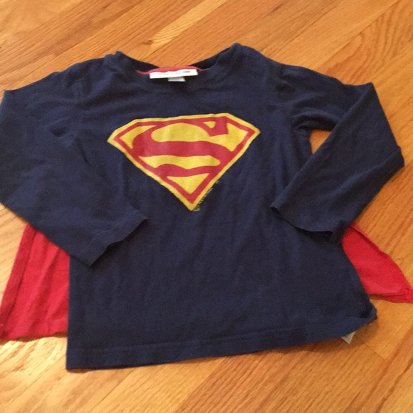 NWT Gap Kids Superman Tee with Cape Long Sleeve 4 Years